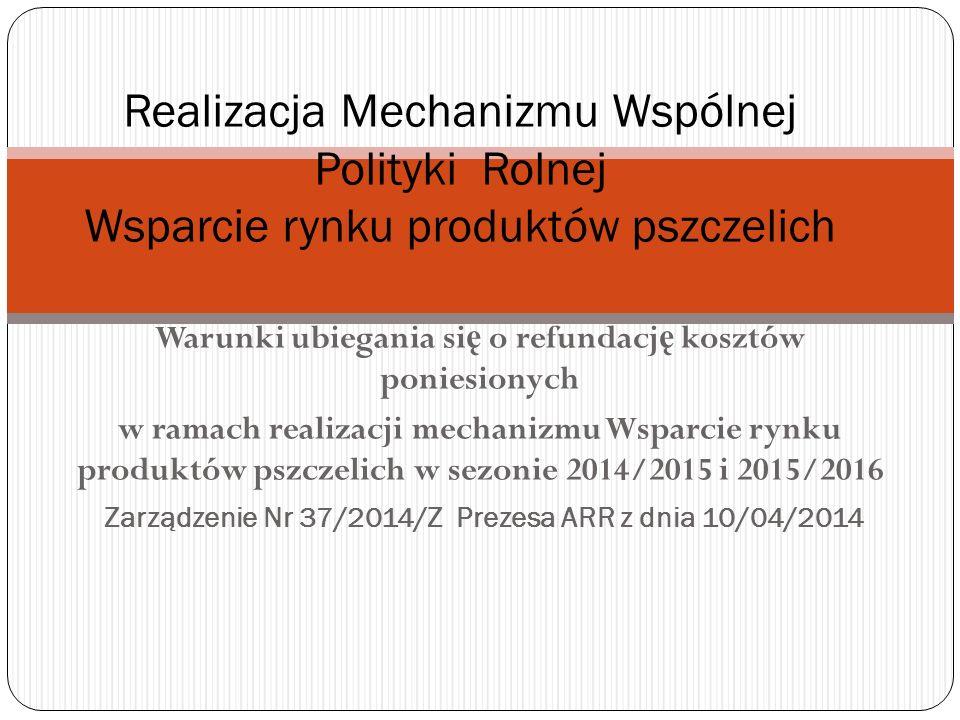 Zarządzenie Nr 37/2014/Z Prezesa ARR z dnia 10/04/2014