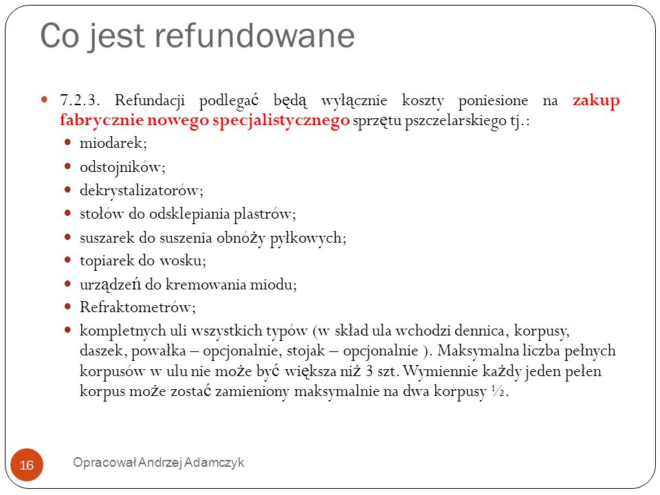 Co jest refundowane