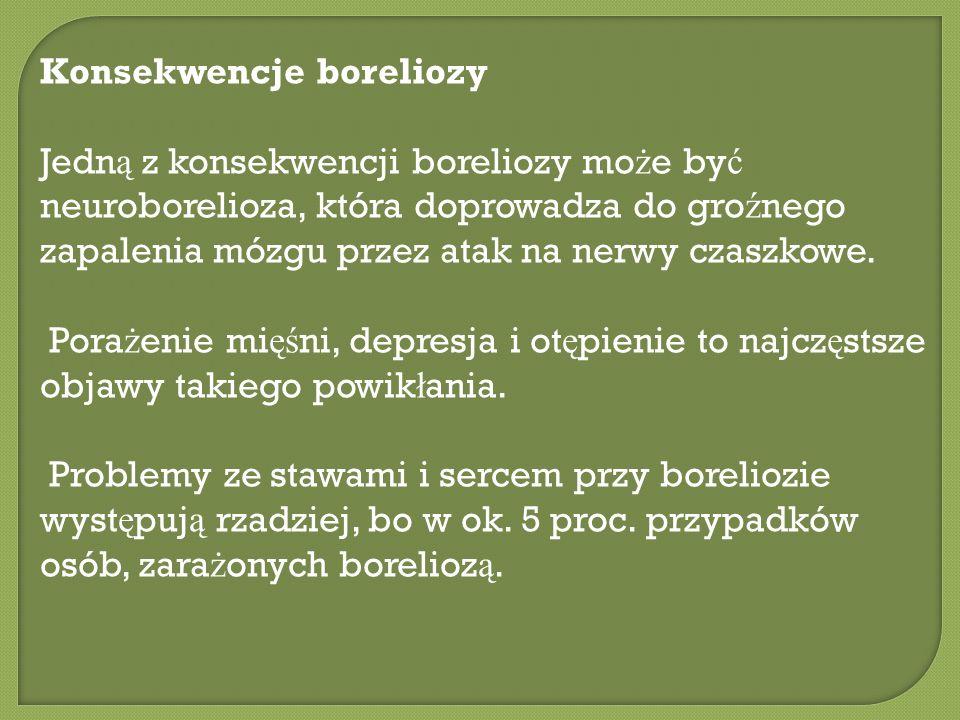 Konsekwencje boreliozy