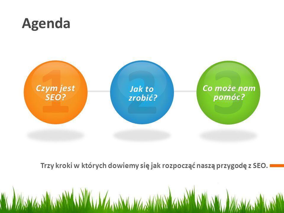 1 2 3 Agenda Czym jest SEO Jak to Co może nam pomóc zrobić