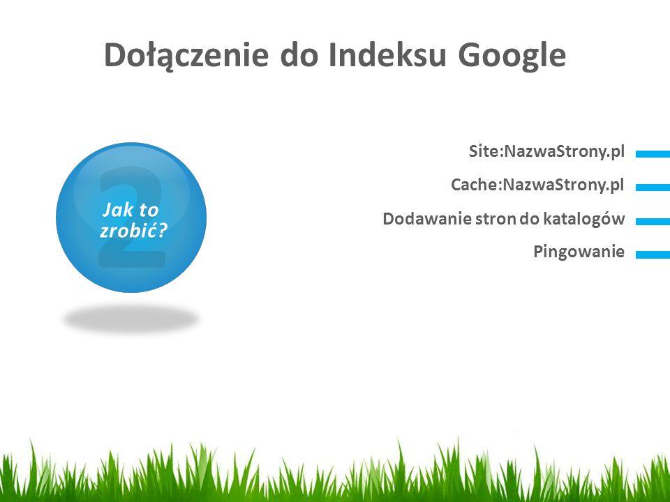 Dołączenie do Indeksu Google