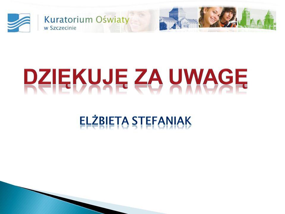Dziękuję za uwagę Elżbieta Stefaniak
