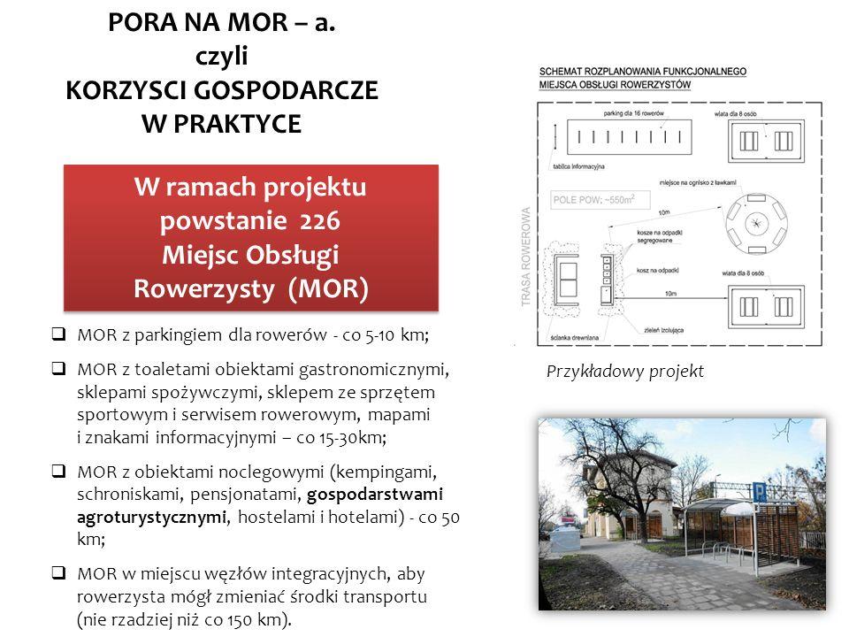 KORZYSCI GOSPODARCZE W PRAKTYCE W ramach projektu powstanie 226