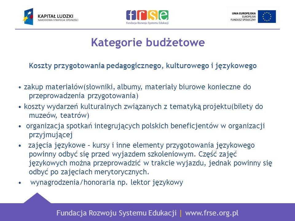 Kategorie budżetowe