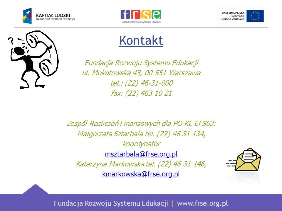 Kontakt Fundacja Rozwoju Systemu Edukacji