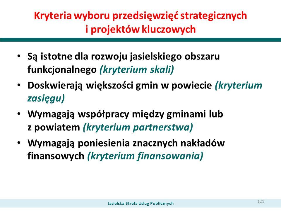 Kryteria wyboru przedsięwzięć strategicznych i projektów kluczowych