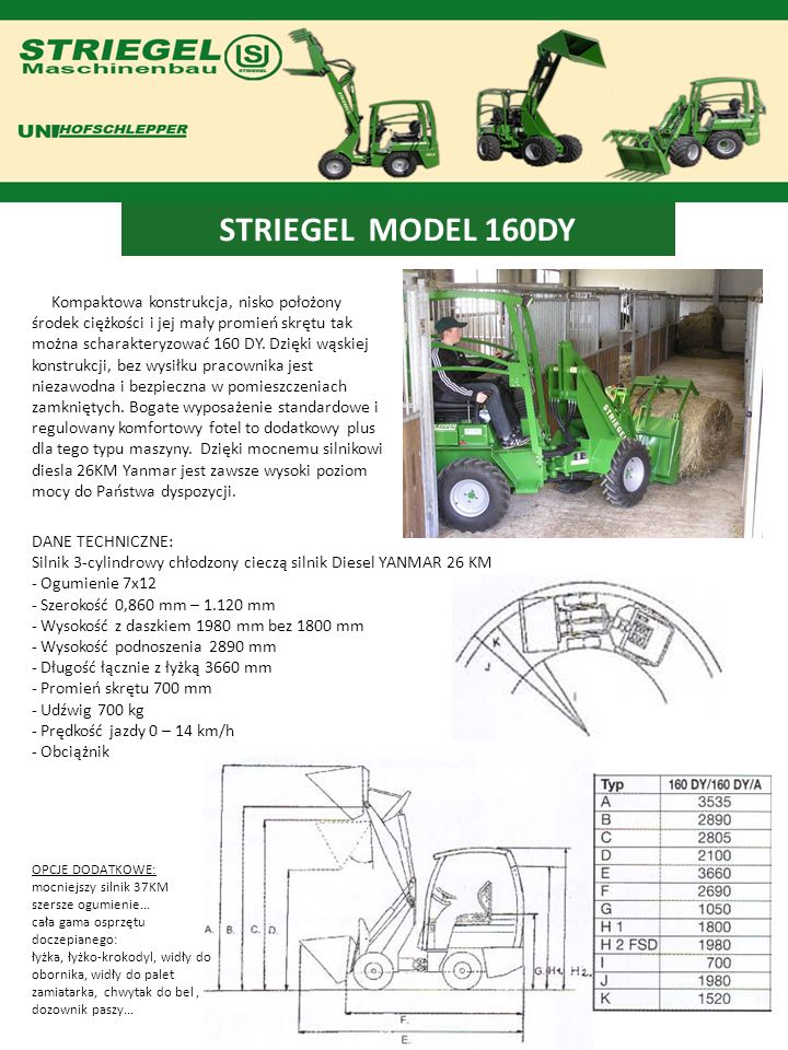 STRIEGEL MODEL 160DY