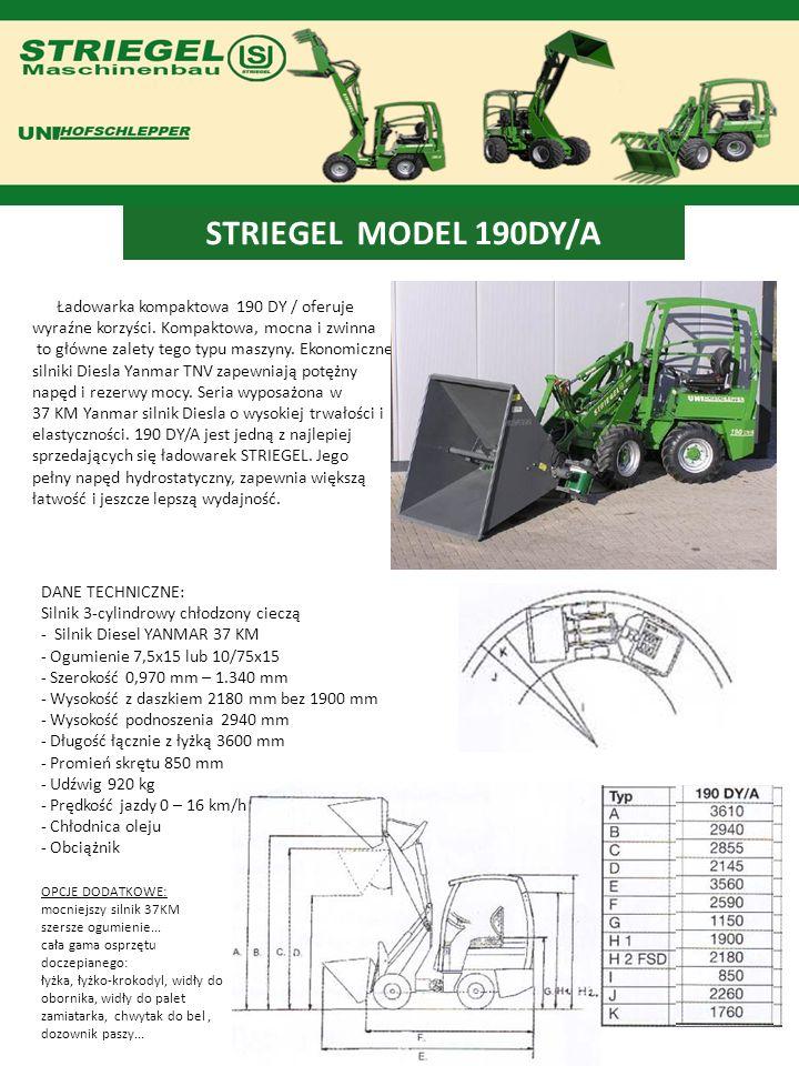 STRIEGEL MODEL 190DY/A Ładowarka kompaktowa 190 DY / oferuje wyraźne korzyści. Kompaktowa, mocna i zwinna.