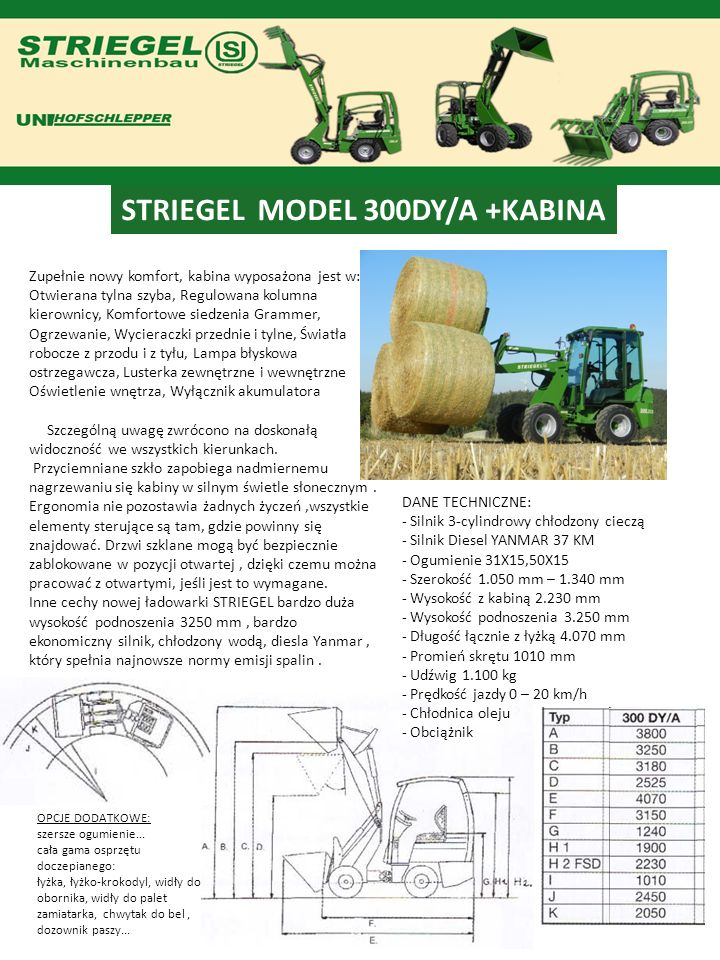 STRIEGEL MODEL 300DY/A +KABINA