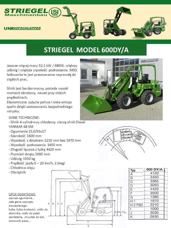 STRIEGEL MODEL 600DY/A