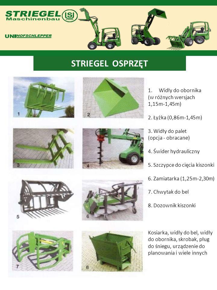 STRIEGEL OSPRZĘT Widły do obornika (w różnych wersjach 1,15m-1,45m)