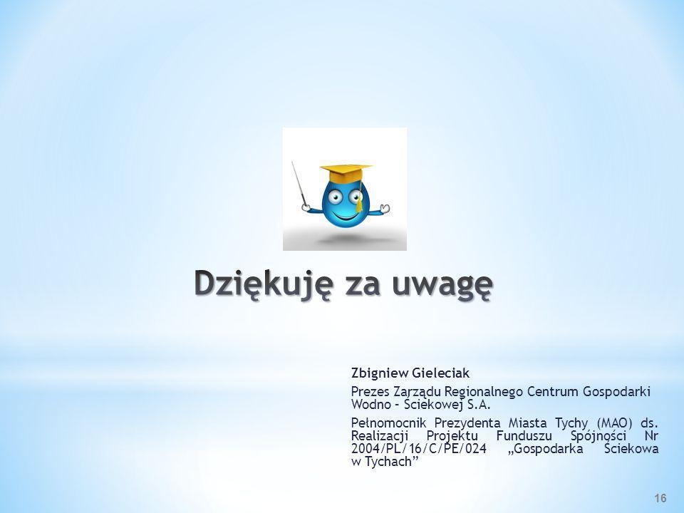 Dziękuję za uwagę Zbigniew Gieleciak