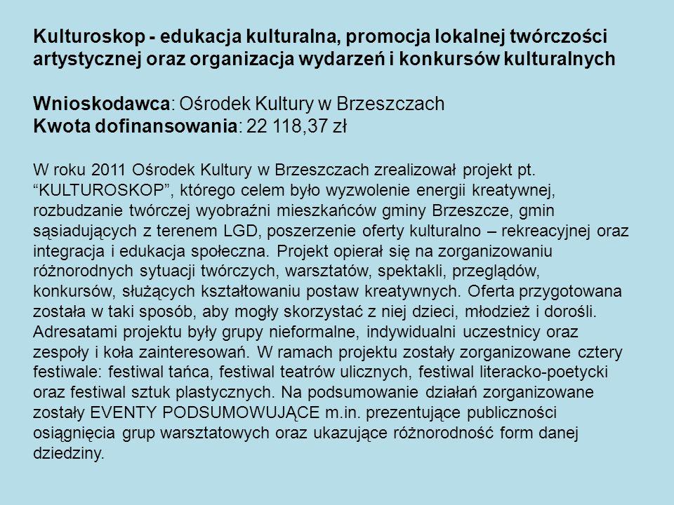 Wnioskodawca: Ośrodek Kultury w Brzeszczach