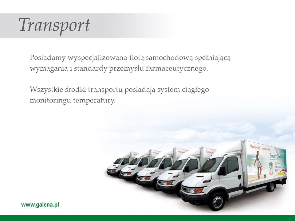 Transport Posiadamy wyspecjalizowaną flotę samochodową spełniającą