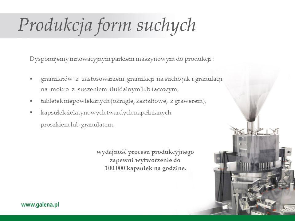 Produkcja form suchych
