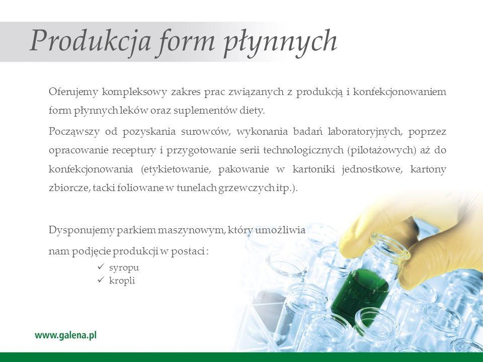 Produkcja form płynnych