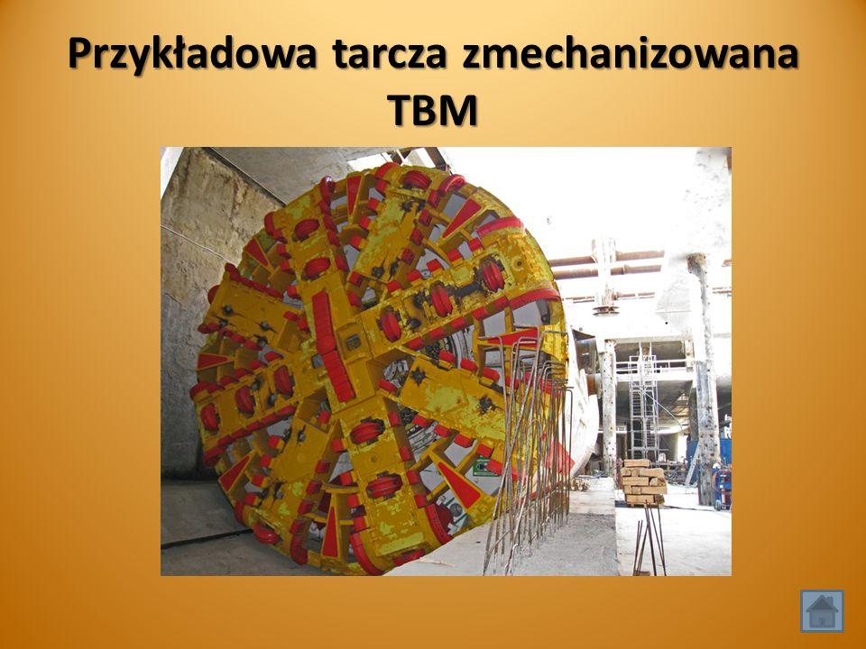 Przykładowa tarcza zmechanizowana TBM