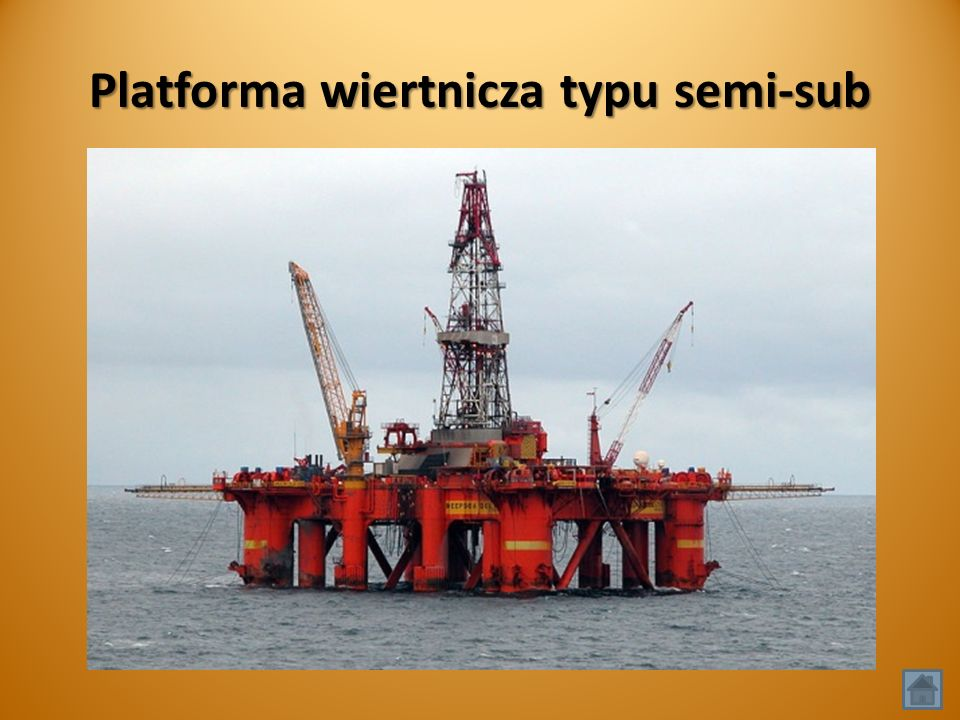 Platforma wiertnicza typu semi-sub