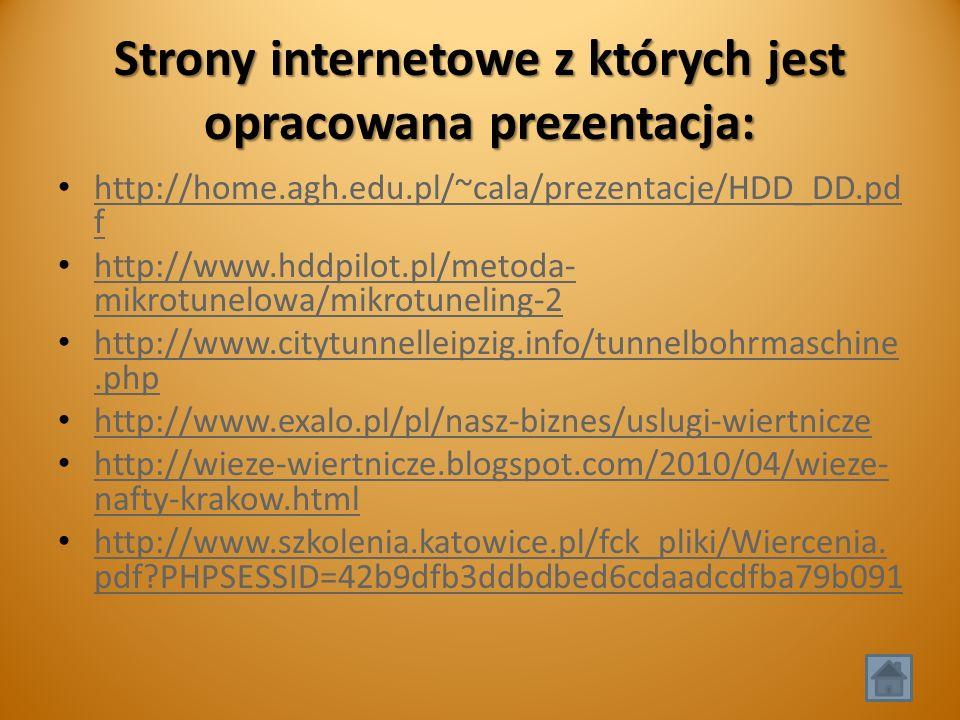 Strony internetowe z których jest opracowana prezentacja: