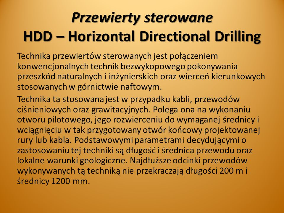 Przewierty sterowane HDD – Horizontal Directional Drilling