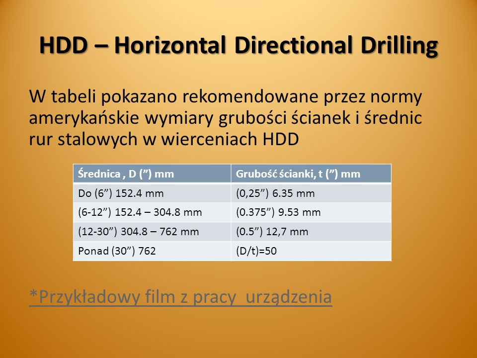 HDD – Horizontal Directional Drilling