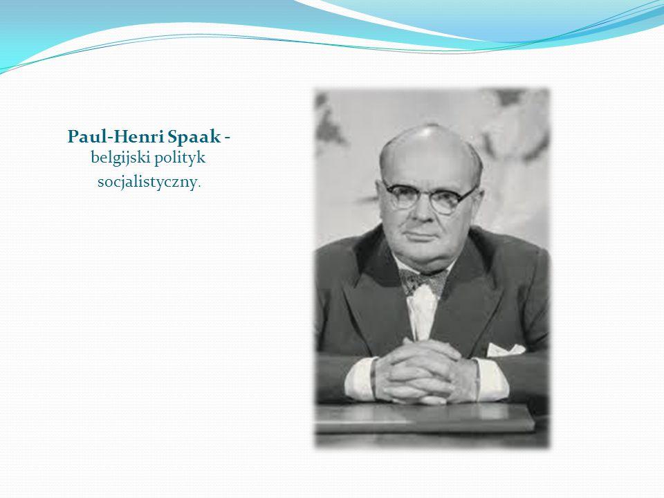 Paul-Henri Spaak - belgijski polityk