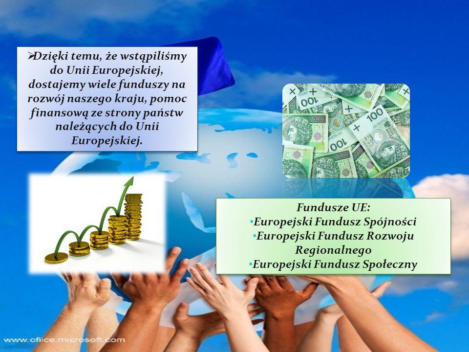 Europejski Fundusz Spójności Europejski Fundusz Rozwoju Regionalnego