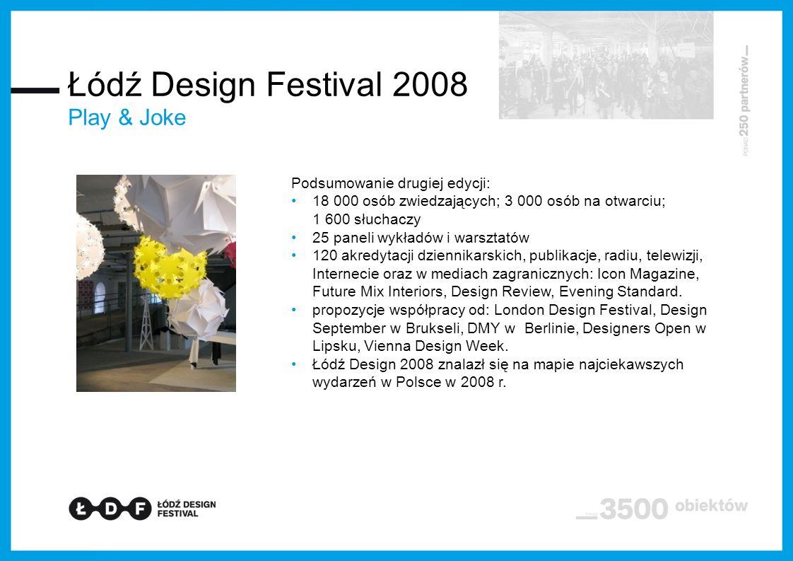 Łódź Design Festival 2008 Play & Joke Podsumowanie drugiej edycji: