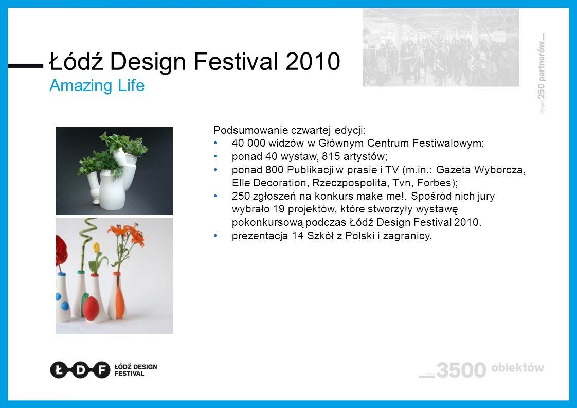 Łódź Design Festival 2010 Amazing Life Podsumowanie czwartej edycji: