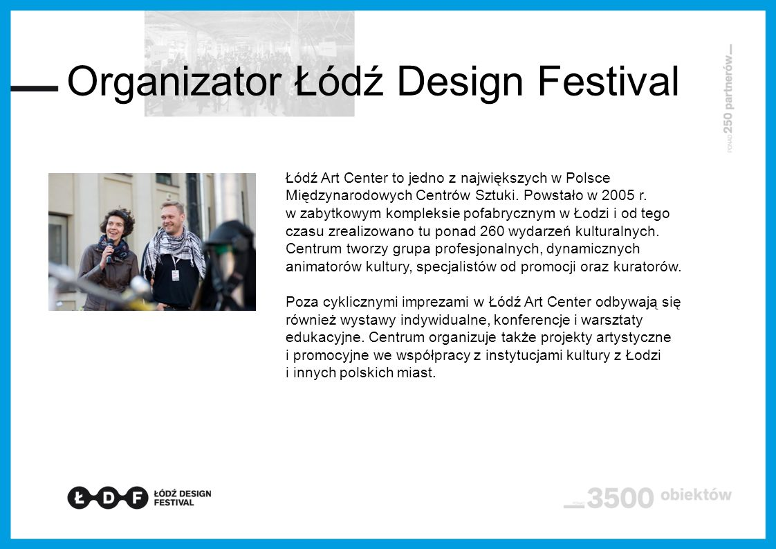 Organizator Łódź Design Festival