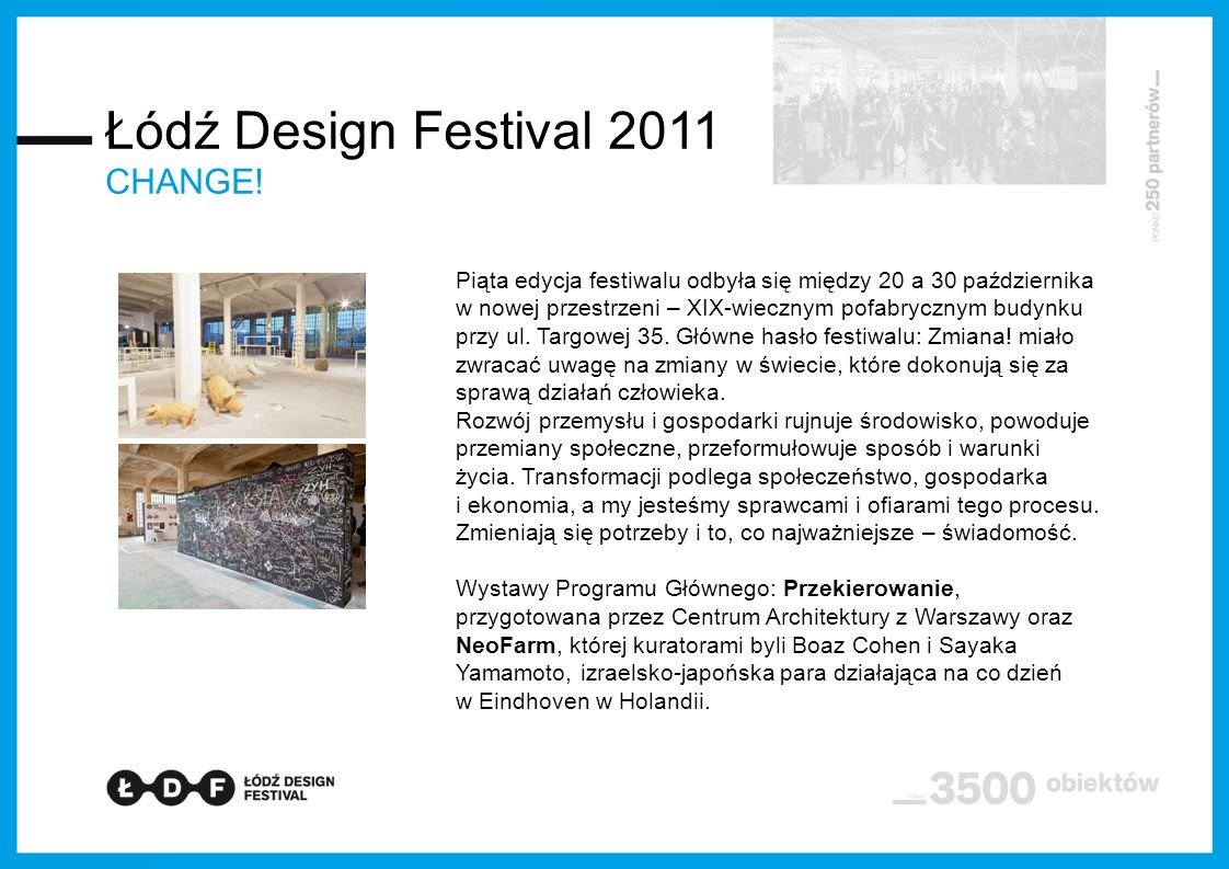 Łódź Design Festival 2011 CHANGE!