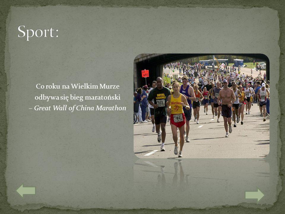 Sport: Co roku na Wielkim Murze odbywa się bieg maratoński