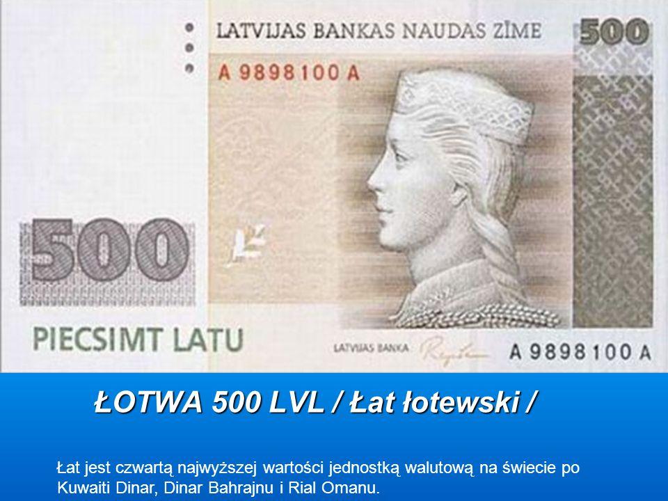 ŁOTWA 500 LVL / Łat łotewski /