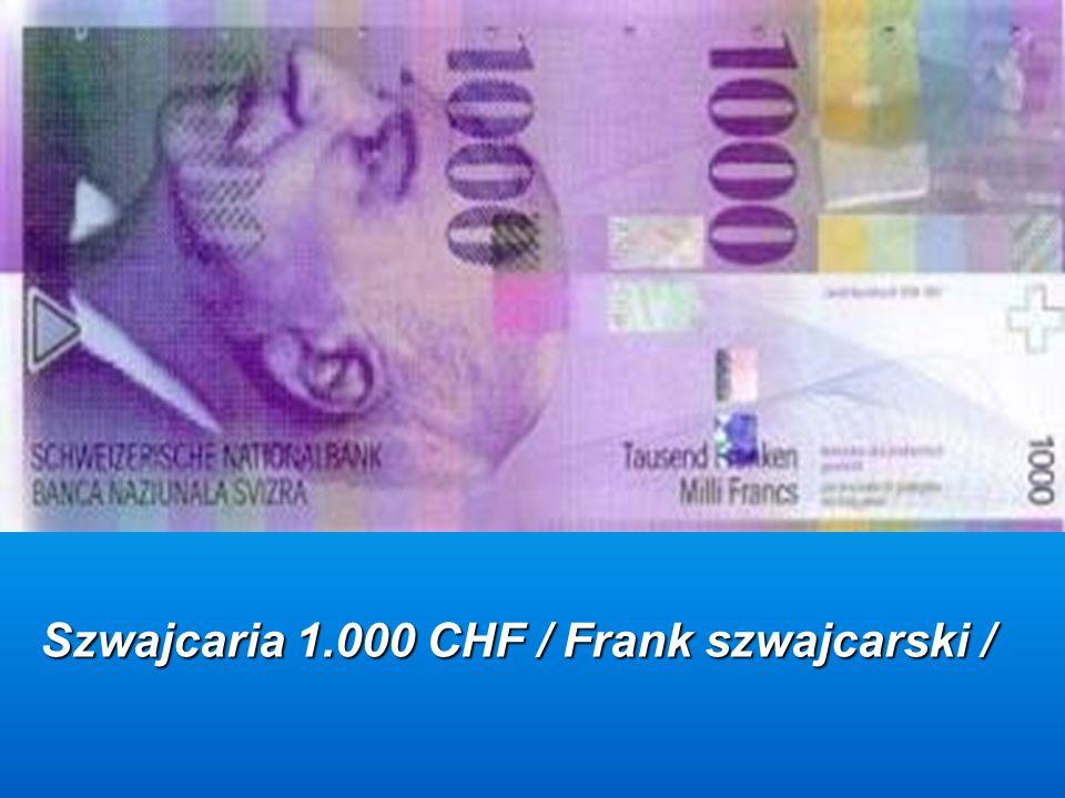 Szwajcaria 1.000 CHF / Frank szwajcarski /