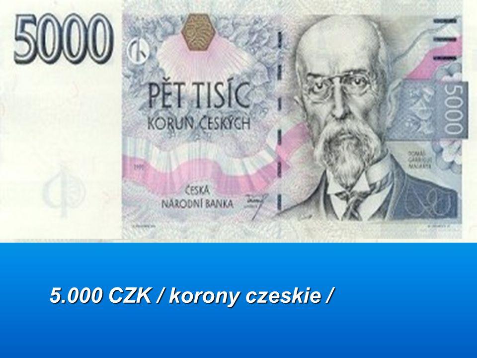 5.000 CZK / korony czeskie /