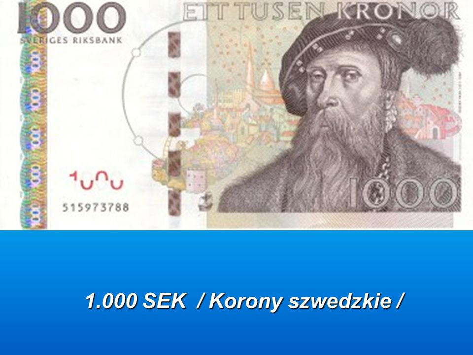 1.000 SEK / Korony szwedzkie /