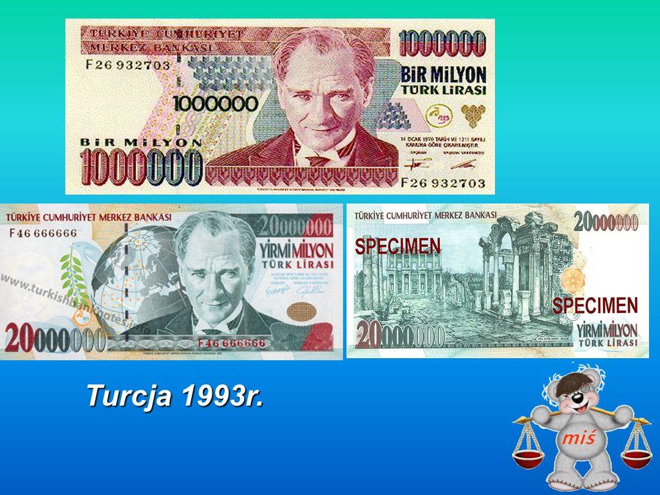 Turcja 1993r. miś