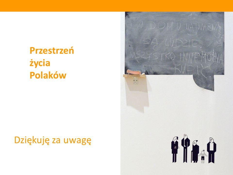 Przestrzeń życia Polaków Dziękuję za uwagę