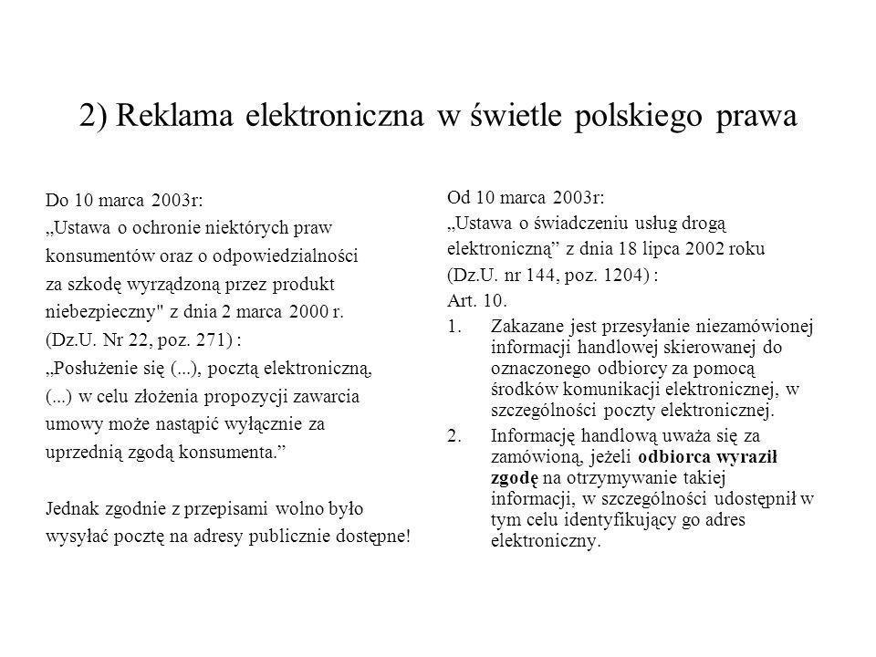 2) Reklama elektroniczna w świetle polskiego prawa