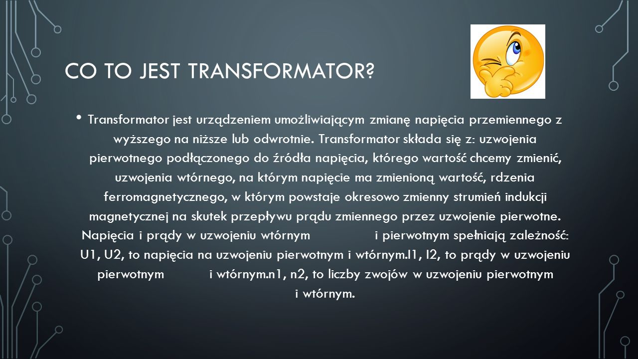 Co to jest transformator