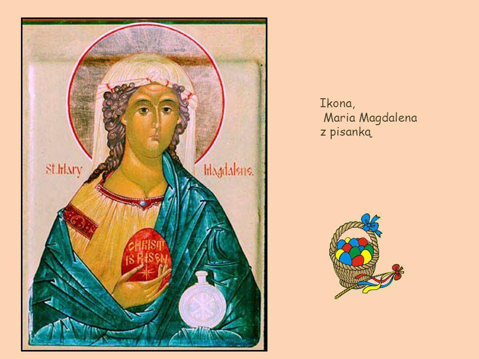 Ikona, Maria Magdalena z pisanką