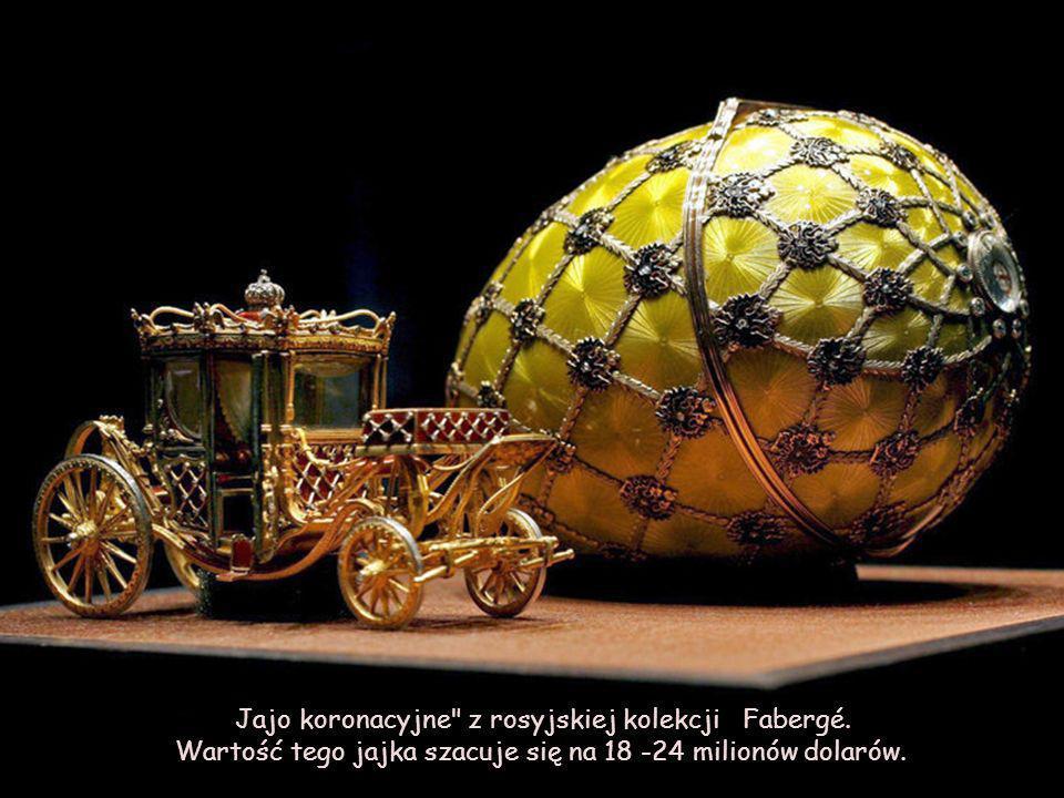 Jajo koronacyjne z rosyjskiej kolekcji Fabergé.