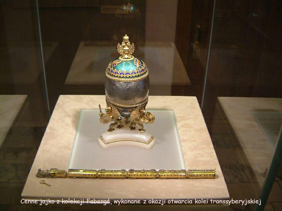 Cenne jajko z kolekcji Fabergé, wykonane z okazji otwarcia kolei transsyberyjskiej