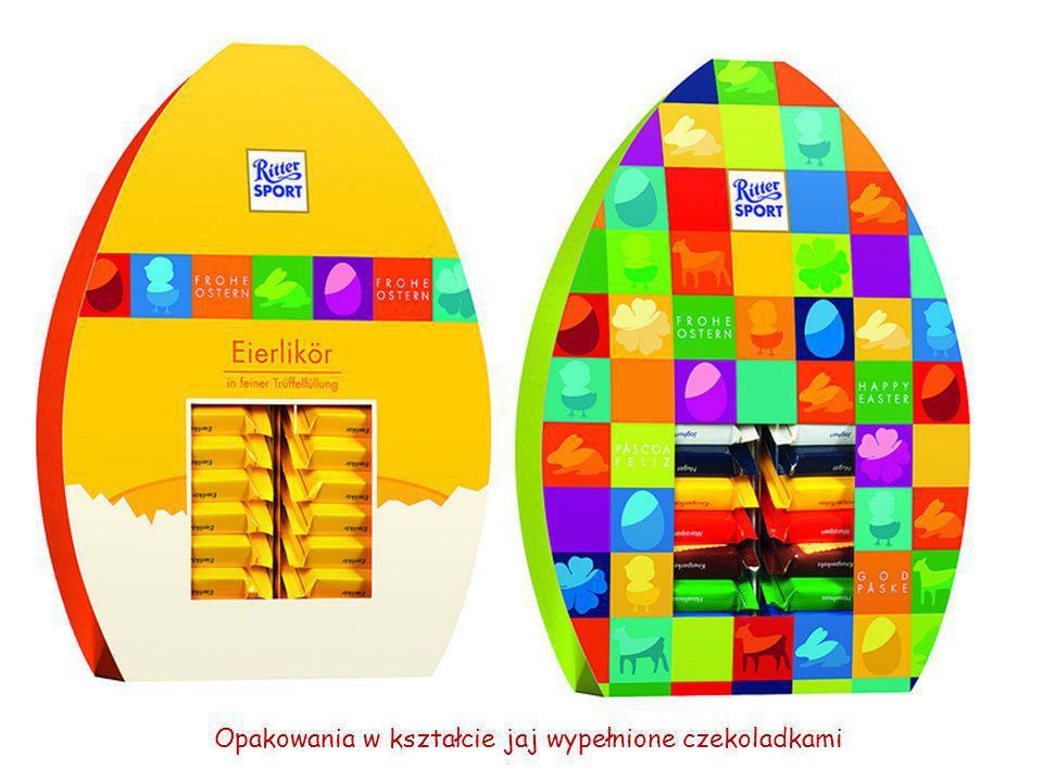 Opakowania w kształcie jaj wypełnione czekoladkami