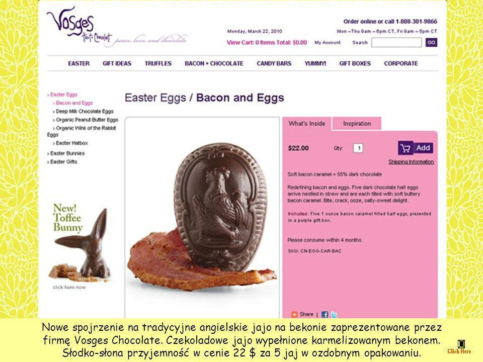 Słodko-słona przyjemność w cenie 22 $ za 5 jaj w ozdobnym opakowaniu.