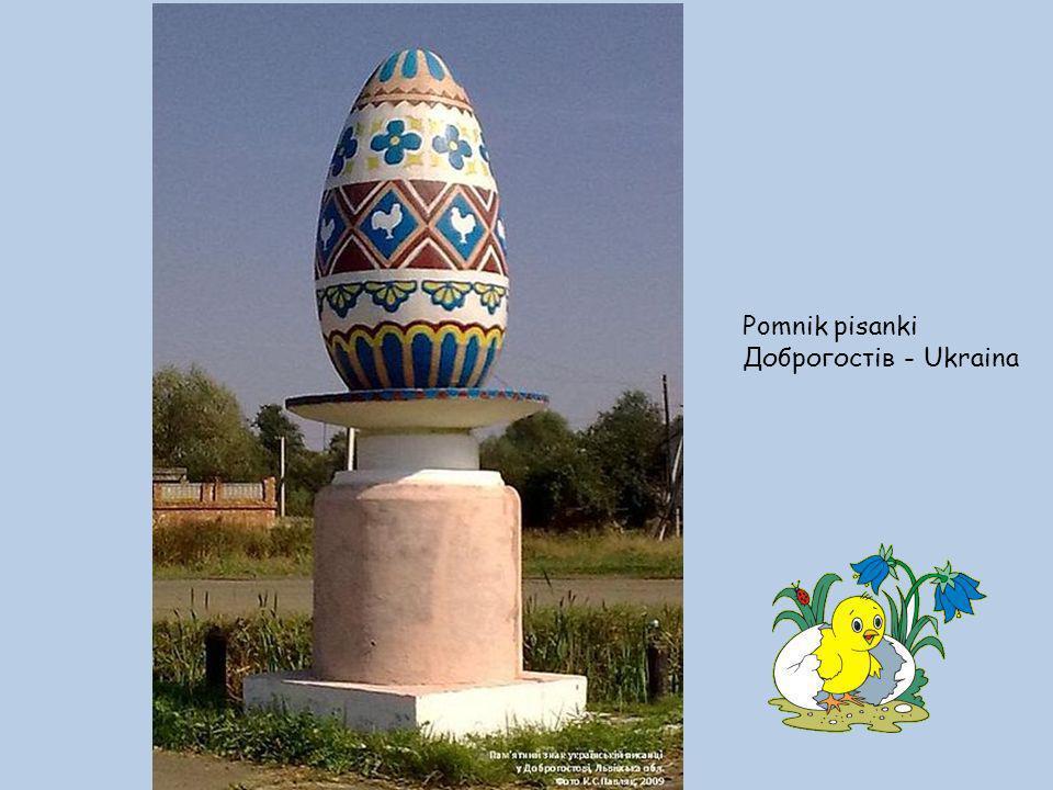 Pomnik pisanki Доброгостів - Ukraina