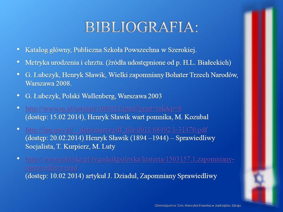 Bibliografia: Katalog główny, Publiczna Szkoła Powszechna w Szerokiej.