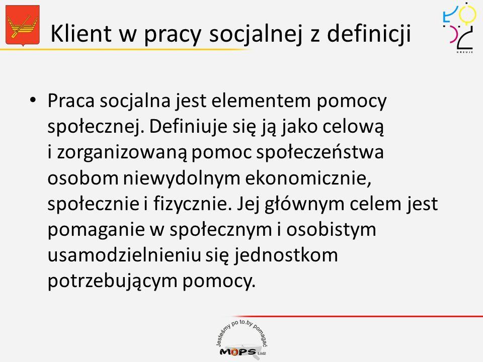 Klient w pracy socjalnej z definicji