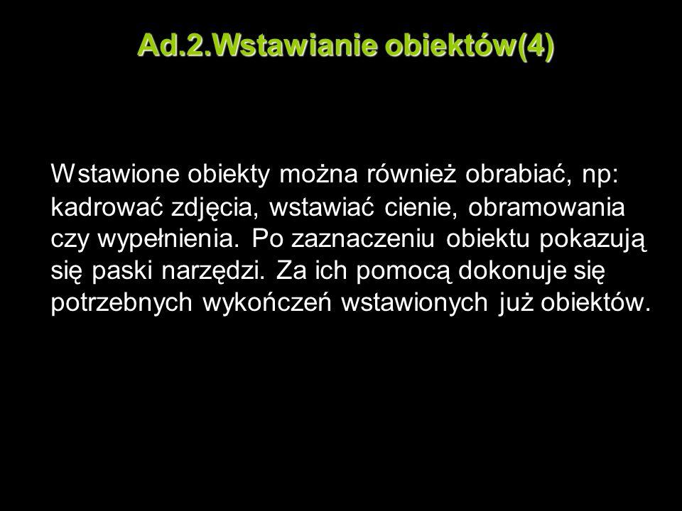 Ad.2.Wstawianie obiektów(4)