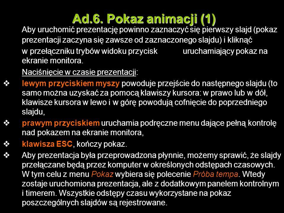 Ad.6. Pokaz animacji (1)
